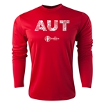 Austria Euro 2016 Elements Long Sleeve Training Top (Red)