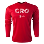 Croatia Euro 2016 Elements Long Sleeve Training Top (Red)