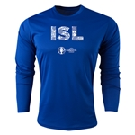Iceland Euro 2016 Elements Long Sleeve Training Top (Royal)