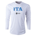 Italy Euro 2016 Elements Long Sleeve Training Top (White)