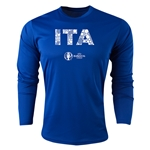 Italy Euro 2016 Elements Long Sleeve Training Top (Royal)