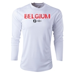 Belgium Euro 2016 Core Long Sleeve Training Top (White)