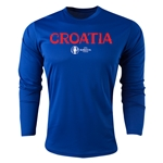 Croatia Euro 2016 Core Long Sleeve Training Top (Royal)