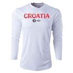 Croatia Euro 2016 Core Long Sleeve Training Top (White)