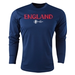 England Euro 2016 Core Long Sleeve Training Top (Navy)