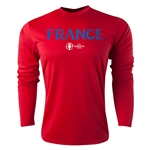 France Euro 2016 Core Long Sleeve Training Top (Red)