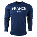 France Euro 2016 Core Long Sleeve Training Top (Navy)