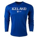 Iceland Euro 2016 Core Long Sleeve Training Top (Royal)