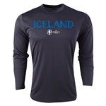 Iceland Euro 2016 Core Long Sleeve Training Top (Black)