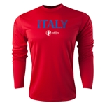 Italy Euro 2016 Core Long Sleeve Training Top (Red)