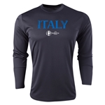 Italy Euro 2016 Core Long Sleeve Training Top (Black)
