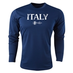 Italy Euro 2016 Core Long Sleeve Training Top (Navy)
