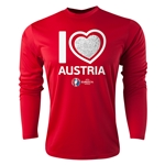 Austria Euro 2016 Heart Long Sleeve Training Top (Red)