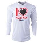 Austria Euro 2016 Heart Long Sleeve Training Top (White)