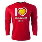 Belgium Euro 2016 Heart Long Sleeve Training Top (Red)