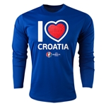 Croatia Euro 2016 Heart Long Sleeve Training Top (Royal)