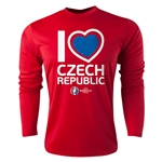 Czech Republic Euro 2016 Heart Long Sleeve Training Top (Red)