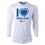 England Euro 2016 Heart Long Sleeve Training Top (White)
