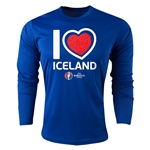 Iceland Euro 2016 Heart Long Sleeve Training Top (Royal)