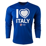 Italy Euro 2016 Heart Long Sleeve Training Top (Royal)