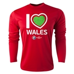 Wales Euro 2016 Heart Long Sleeve Training Top (Red)