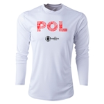 Poland Euro 2016 Elements Long Sleeve Training Top (White)