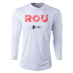 Romania Euro 2016 Elements Long Sleeve Training Top (White)