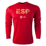 Spain Euro 2016 Elements Long Sleeve Training Top (Red)