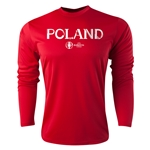 Poland Euro 2016 Core Long Sleeve Training Top (Red)