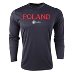 Poland Euro 2016 Core Long Sleeve Training Top (Black)