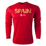 Spain Euro 2016 Core Long Sleeve Training Top (Red)