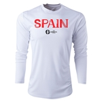 Spain Euro 2016 Core Long Sleeve Training Top (White)