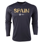 Spain Euro 2016 Core Long Sleeve Training Top (Black)