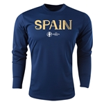 Spain Euro 2016 Core Long Sleeve Training Top (Navy)