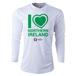 Northern Ireland Euro 2016 Heart Long Sleeve Training Top (White)