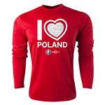 Poland Euro 2016 Heart Long Sleeve Training Top (Red)