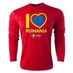 Romania Euro 2016 Heart Long Sleeve Training Top (Red)
