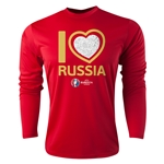 Russia Euro 2016 Heart Long Sleeve Training Top (Red)