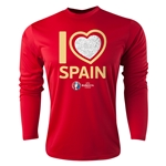 Spain Euro 2016 Heart Long Sleeve Training Top (Red)