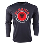 Albania Euro 2016 Fashion Long Sleeve Training Top (Black)