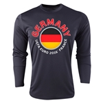 Germany Euro 2016 Fashion Long Sleeve Training Top (Black)