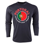 Portugal Euro 2016 Fashion Long Sleeve Training Top (Black)