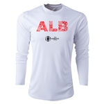 Albania Euro 2016 Elements Long Sleeve Training Top (White)
