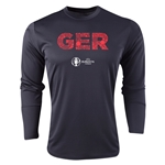 Germany Euro 2016 Elements Long Sleeve Training Top (Black)