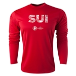 Switzerland Euro 2016 Elements Long Sleeve Training Top (Red)