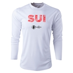 Switzerland Euro 2016 Elements Long Sleeve Training Top (White)