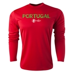 Portugal Euro 2016 Core Long Sleeve Training Top (Red)