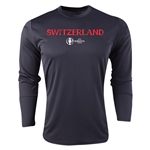 Switzerland Euro 2016 Core Long Sleeve Training Top (Black)