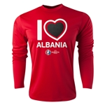 Albania Euro 2016 Heart Long Sleeve Training Top (Red)