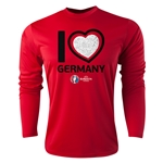 Germany Euro 2016 Heart Long Sleeve Training Top (Red)
